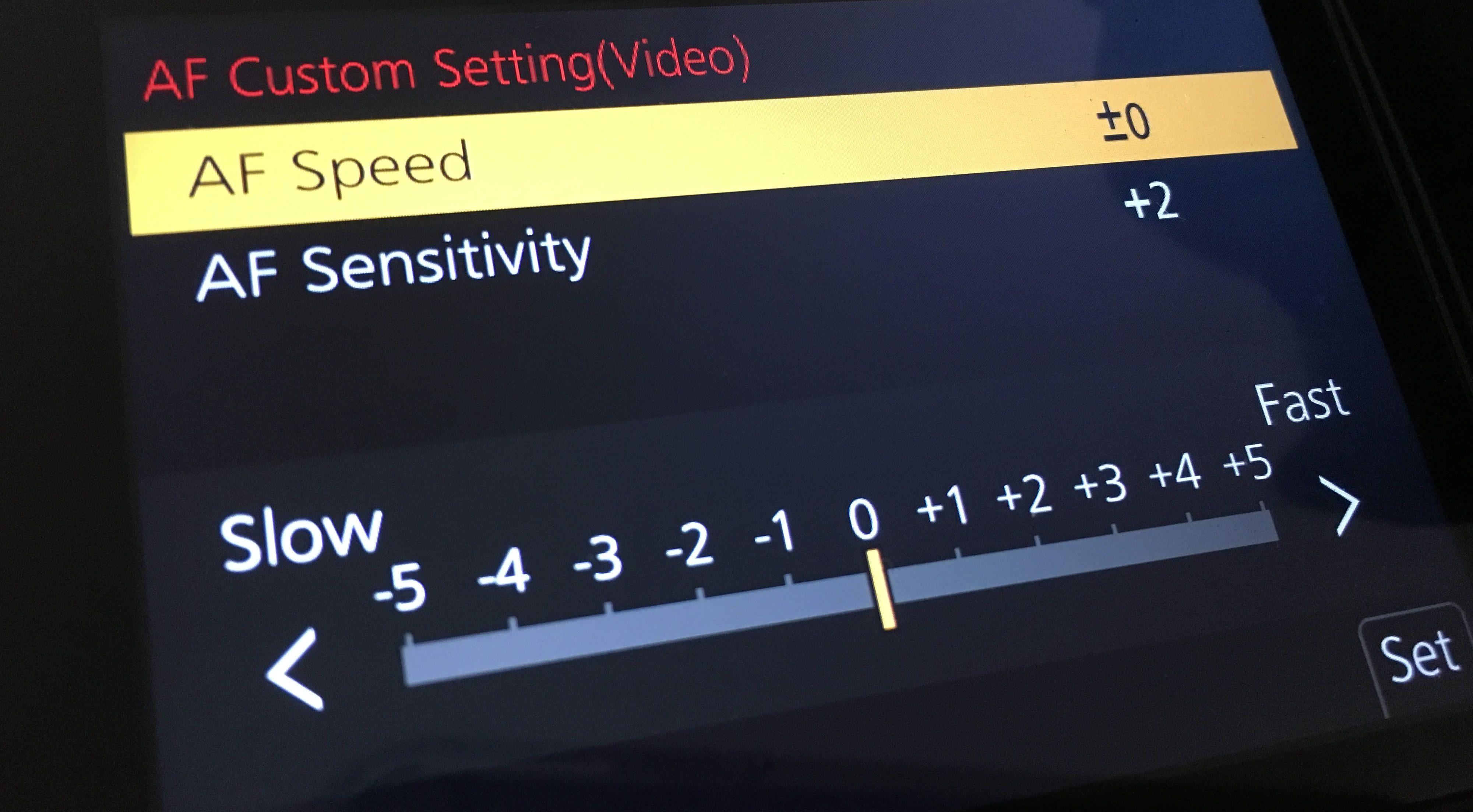 GH5 autofocus settings