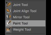 Das Paint-Tool im Character Menü